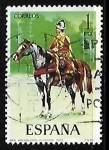 Stamps Spain -  Uniformes militares - Arcabucero ecuestre