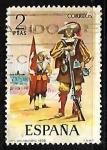 Sellos de Europa - España -  Uniformes militares - Arcabucero de infantería