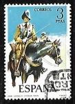 Sellos de Europa - España -  Uniformes militares - Coracero de caballeria