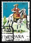 Stamps Europe - Spain -  Uniformes militares - Dragones a caballo, timbalero