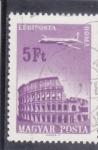 de Europa - Hungría -  AVION SOBREVOLANDO ROMA
