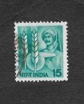 Sellos de Asia - India -  Agricola