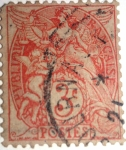 Stamps France -  type Blanc