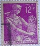 Sellos de Europa - Francia -  TIPO SEGADORA
