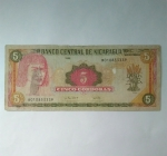 monedas del Mundo : America : Nicaragua :  Cinco cordobas