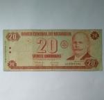 monedas de America - Nicaragua -  20 cordobas