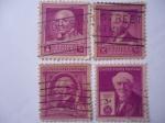 Stamps : America : United_States :  Serie 1922- 1938. Personajes de Estados Unidos.