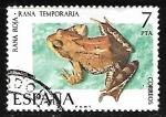 Stamps Spain -  Fauna Hispánica - Rana Roja