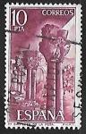 Sellos de Europa - España -  Monasterio de San Juan de la Peña - Capiteles