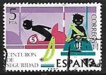 Sellos de Europa - España -  Seguridad Vial - Cinturón de seguridad