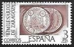 Stamps Spain -  Bimilenario de Zaragosa - Moneda de César Augusto