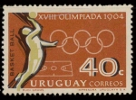 Stamps Uruguay -  734 - Olimpiadas de Tokio, baloncesto