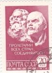 Sellos de Europa - Rusia -  LENIN Y KARL MARX