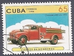 sellos de America - Cuba -  Carros de Bomberos - Chevrolet 6400 U.S.