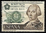Stamps Spain -  Bicentenario de la Independencia de los Estados Unidos - Bernardo de Gálvez