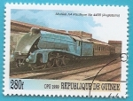 Stamps Guinea -  Locomotora A4 Pacífico 4498