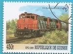 Sellos de Africa - Guinea -  Locomotora CON Gp40 2w 9666 - Ontario