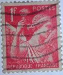 Stamps : Europe : France :  type iris
