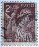 Sellos del Mundo : Europa : Francia : type iris