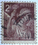 Stamps France -  type iris
