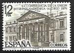 Stamps Spain -  LXIII Conferencia de la Unión Interparlamentaria - Congreso de los diputados