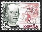Sellos de Europa - España -  Centenário del nacimiento  de Pau Casals y Manuel de Falla - Manuel de Falla