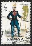 Stamps Spain -  Uniformes Militares - Tambor Mayor de Infantería de Línea