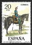 Stamps Spain -  Uniformes Militares - Capitán de Artillería Secciones Montadas