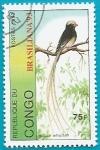 Stamps Republic of the Congo -  AVES - Viuda colicinta - expo Nal. de filatelía Brasiliana 93