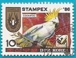 Sellos de Asia - Corea del norte -  Cacatúa -  Stampex'86