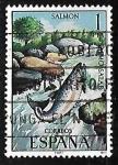 Stamps Spain -  Fauna Hispánica - Salmón