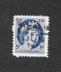 Stamps Canada -  341 - Isabel II
