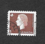 Stamps Canada -  401 - Isabel II