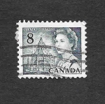 Stamps : America : Canada :  544 - Isabel II