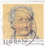Stamps : Europe : Germany :  JOHANN WOLFGANG VON GOETHE