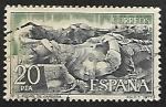 Sellos de Europa - España -  Monasterio de San Pedro de Cardeña - Sepulcro del Cid y Doña Jimena