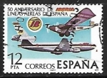 Sellos de Europa - España -  L Aniversário de la Fundación de la Compañía aérea Iberia - Aviones Rohrbach