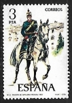 Sellos de Europa - España -   Uniformes Militares  - Teniente de Artillería Rodada