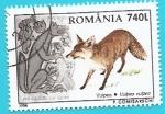 Sellos de Europa - Rumania -  Zorro común y fábulas