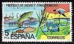 Stamps Spain -  Protección de la naturaleza - Águas continentales