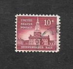 Sellos de America - Estados Unidos -  1044 - Independence Hall