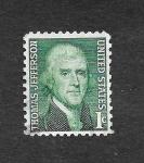 Stamps United States -  Thomas Jefferson