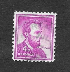 Stamps United States -  1036 - Lincoln