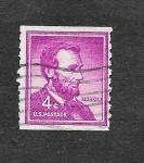 Sellos de America - Estados Unidos -  1036 - Lincoln