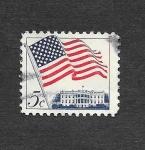 Stamps United States -  1208 - Bandera
