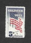 Sellos de America - Estados Unidos -  1249 - Bandera