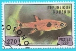 Stamps of the world : Benin :  Pez Rasbora Maculata