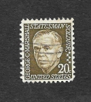 Stamps United States -  George Marshall