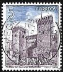 Stamps Spain -  Paisajes y Mnumentos - Puerta de Daroca (Zaragoza)