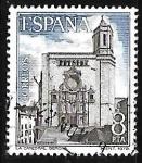 Sellos de Europa - España -   Paisajes y Mnumentos - Catedral de Gerona